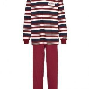 Gregory Pyjama Laivastonsininen / Viininpunainen / Valkoinen
