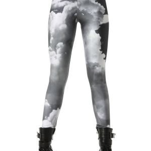 Grey Sky Cloud Leggings Tights