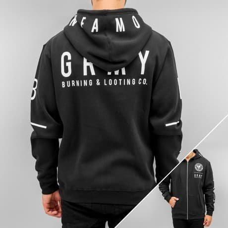Grimey Wear Vetoketjuhuppari Musta