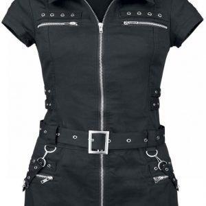 H&R London Black Zip Dress Mekko