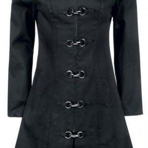 H&R London Goth Clip Coat Naisten Trenssitakki