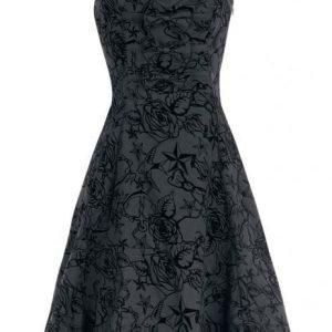 H&R London Long Tattoo Dress Mekko