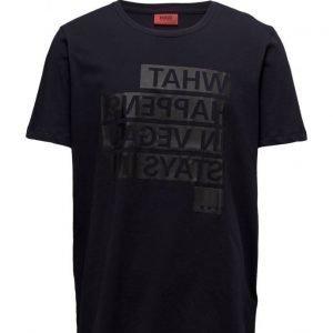 HUGO Devent lyhythihainen t-paita