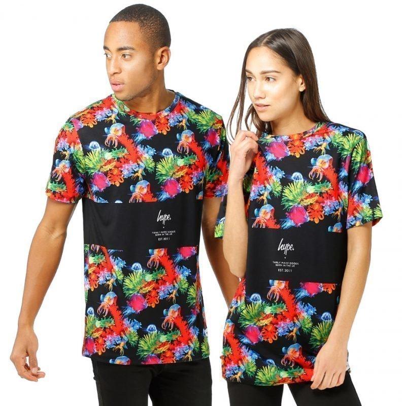 HYPE. Neon Reef Panel -t-paita