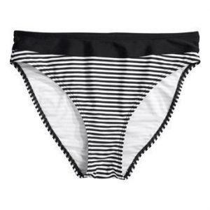 Halens Bikinihousut Musta Valkoinen