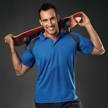 Hanes Sports Polo Contrast