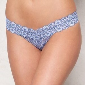 Hanky Panky Low Rise Thong Chambray/Ivory