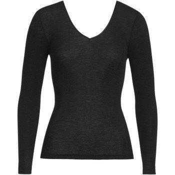 Hanro Woolen Silk Ls Shirt  Black