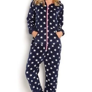 Happy Holly Jumpsuit Doris Laivastonsininen Kuvioitu