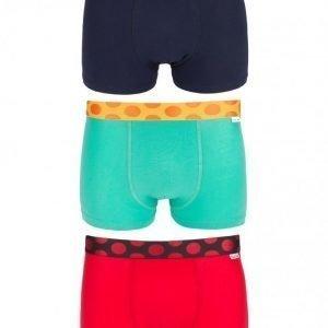 Happy Socks 3-Pack Pop Trunk Bokserit Blue