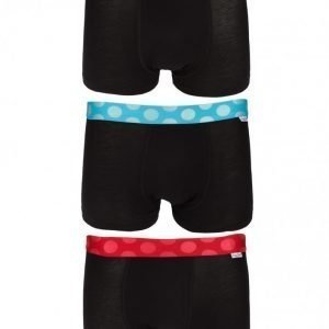 Happy Socks 3-Pack Solid Trunk Bokserit Black