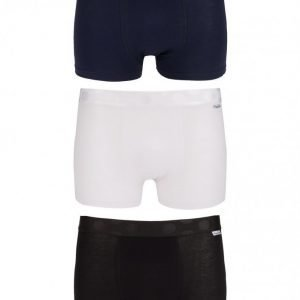 Happy Socks 3-Pack Solid Trunk Bokserit White