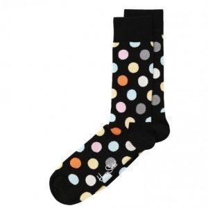 Happy Socks Big Dot Sock Sukat Musta