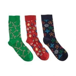 Happy Socks Holiday Sukat 3-Pack