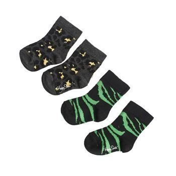 Happy socks Animal Sock Black 2 pakkaus