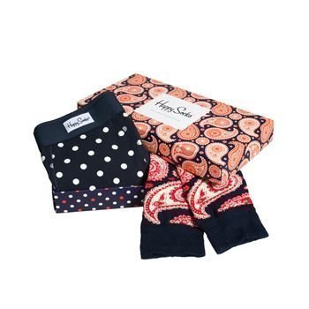 Happy socks Combo Box Dot Boxer and Paisley Sock
