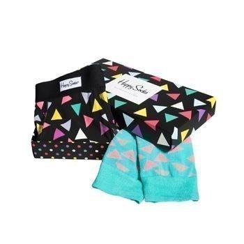 Happy socks Combo Box Triangle Boxer and Sock Blck