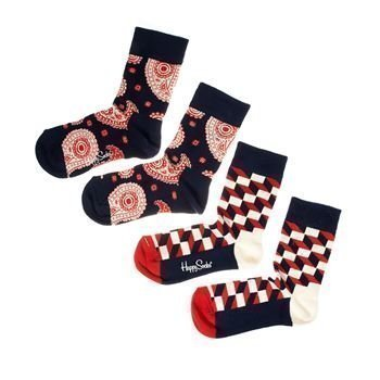 Happy socks Kids Paisly Socks Navy 2 pakkaus