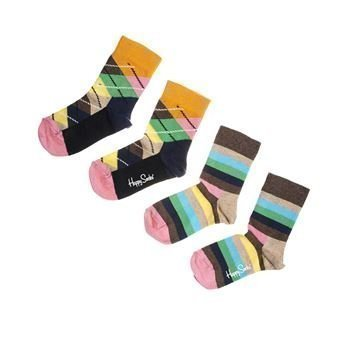Happy socks Stripe Argyle Socks Brown 2 pakkaus