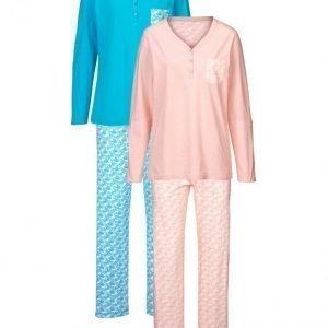 Harmony Pyjama Aprikoosi / Turkoosi / Ecru