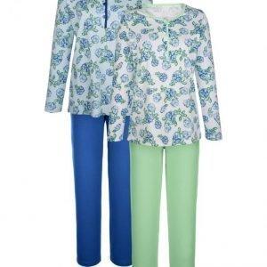 Harmony Pyjama Royalsininen / Valkoinen / Lehmuksenvihreä