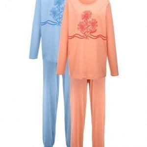 Harmony Pyjama Vaaleansininen / Aprikoosi