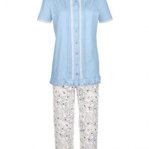 Harmony Pyjama Vaaleansininen / Royalsininen / Lehmuksenvihreä