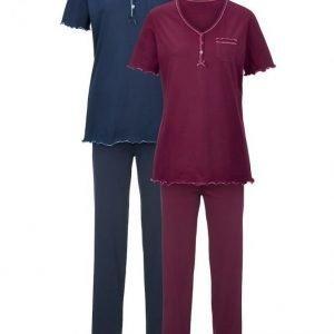Harmony Pyjama Viininpunainen / Laivastonsininen
