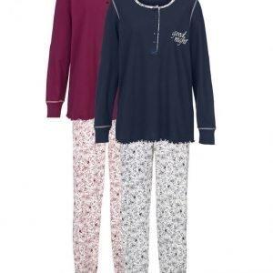 Harmony Pyjama Viininpunainen / Laivastonsininen / Ecru