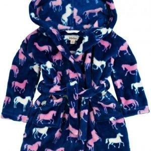 Hatley Aamutakki Fuzzy fleece Silhouette Horses