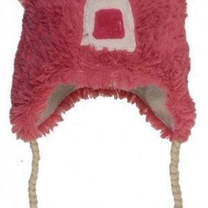 Hatley Lakki Fuzzy fleece hat Karhu Pinkki