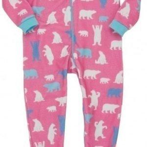 Hatley Terällinen potkupuku Pink Polar Bear