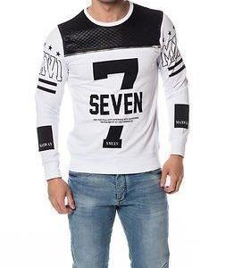 Headline Sweater Seven White