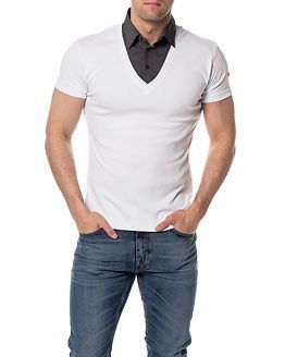 Headline T-shirt Double White