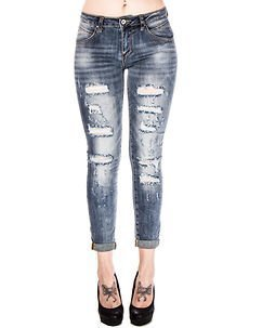 Heather Ripped Jeans