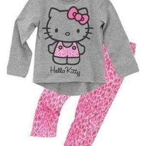 Hello Kitty Pyjama Mel. harmaa Leopardi