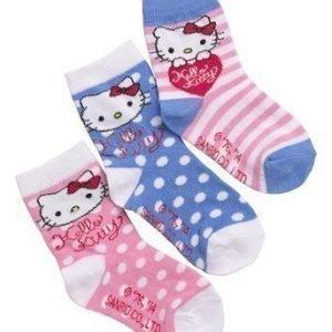 Hello Kitty Sukat 3-Pakkaus Eri värejä