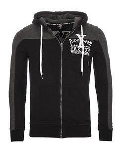 Hide&Seek Zip Hoodie Black/Grey