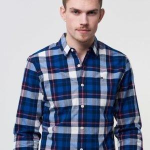 Hilfiger Denim Basic REG Check Shirt L/S 21 901 Black Iris / Multi