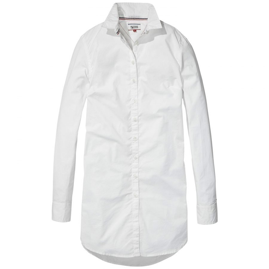 Hilfiger Denim Basic Stretch Cotton Naisten Pitkä Paitapusero