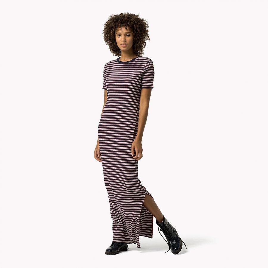 Hilfiger Denim Fitted Stripe Dress Pitkä Trikoomekko