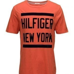 Hilfiger Denim Thdm Basic Cn T-Shirt S/S 26 lyhythihainen t-paita