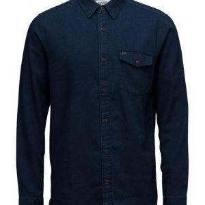 Hilfiger Denim Thdm Basic Indigo Texture Shirt L/S