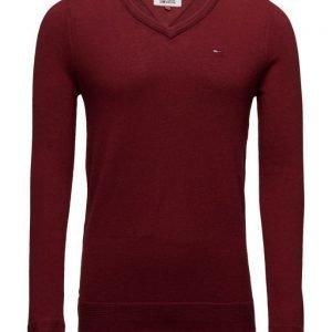 Hilfiger Denim Thdm Basic Vn Sweater L/S 9 v-aukkoinen neule