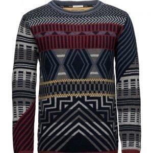 Hilfiger Denim Thdm Cn Fairisle Sweater L/S 30 pyöreäaukkoinen neule