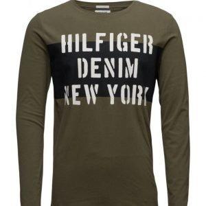 Hilfiger Denim Thdm Cn T-Shirt L/S 35 pitkähihainen t-paita