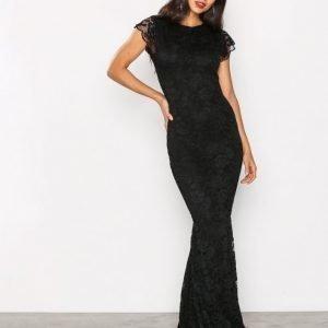Honor Gold Faye Cap Sleeve Maxi Dress Kotelomekko Black