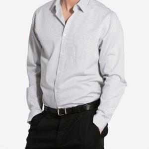 Hope Roy Pocket Shirt Kauluspaita Light Grey