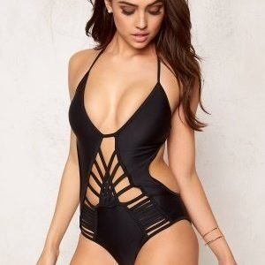 Hot Anatomy Multi Strapped Swimsuit Black