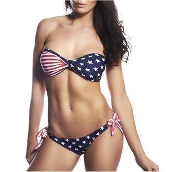 Hot Anatomy USA Bikini Red